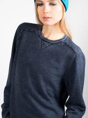 Shabby Cashmere Blend Crew - Charcoal