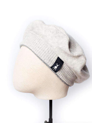 Cashmere Military Beret - Light Grey - TALLIS
