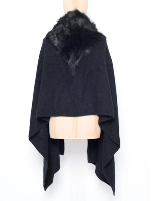 Tippet in Shearling - Black with black trim - TALLIS