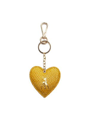 Fish Leather Heart Keyring