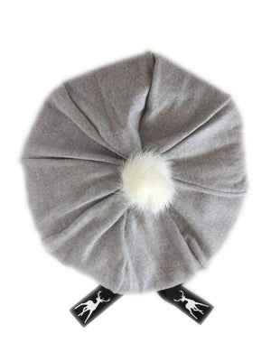 Cashmere Beret with Mini Pom