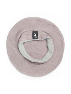 Military Beret in mauve cashmere - TALLIS