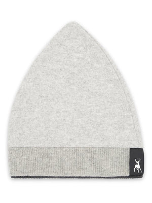 Cashmere Pointed Beanie - Pale grey