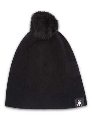 Kiwi Beanie with Pompom - Black