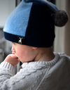 Cashmere Baby Hat - Blue/navy