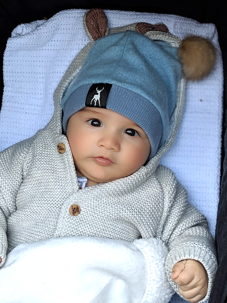 Cashmere Baby Hat - Pale blue
