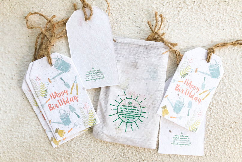 Plantable Gift Tags (Happy Birthday) - Tomato
