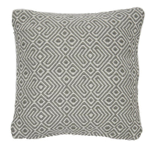 Recycled plastic bottles cushion - Weaver Green - Dove Grey - TALLIS