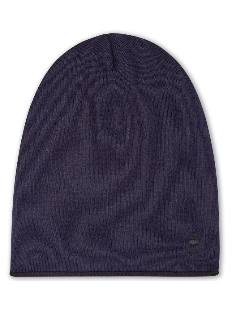 Reversible Beanie in Merino - Navy/Black - TALLIS