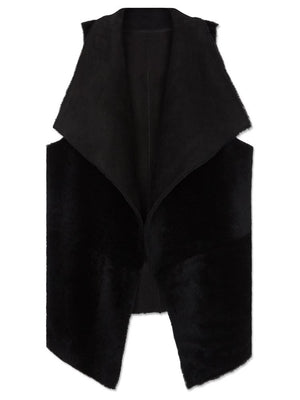 Waterfall Reversible Gilet - Black