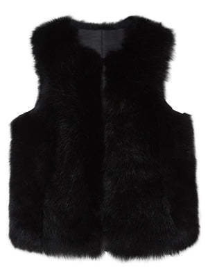 Reversible Shearling Gilet - Black