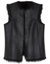 Reversible Shearling Gilet - Black - TALLIS