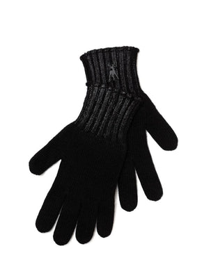Metallic Print Cashmere Gloves - Black