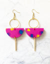 Eclipse Earrings- Pink Confetti