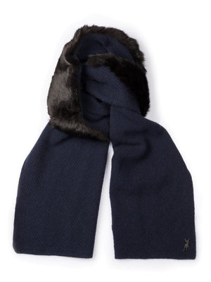 Teeny in Alpine Hare - Navy with black trim - TALLIS