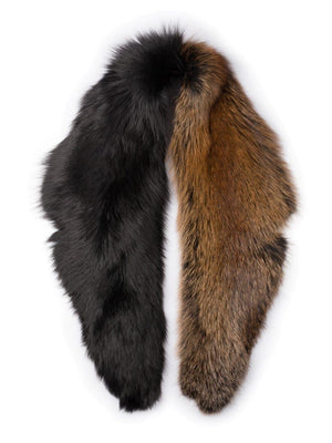 Scruff in Two-Tone Fur - Black/brown - TALLIS