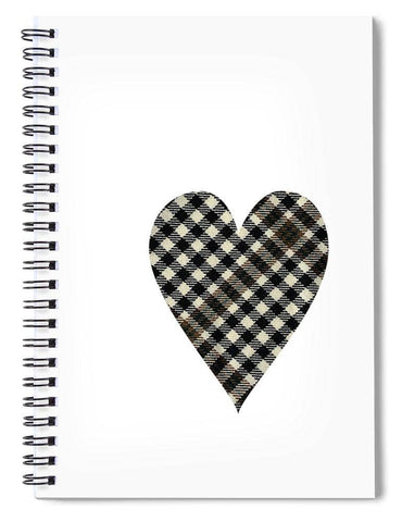 Burns Check Heart 1 - Spiral Notebook