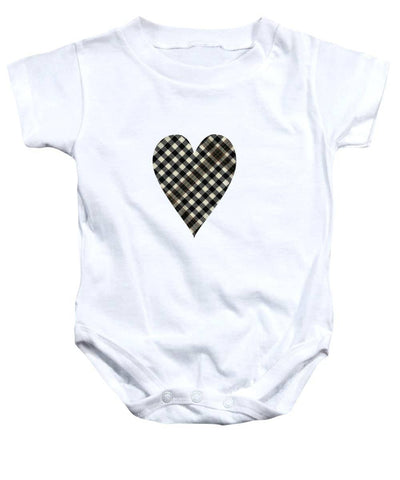 Burns Check Heart 1 - Baby Onesie