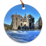 Castle in Snow South Porcelain Ornaments