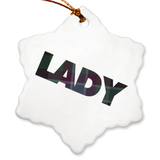 Lady Porcelain Ornaments