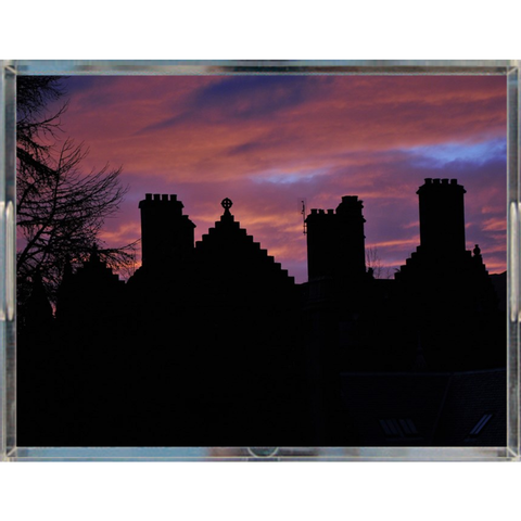 Castle in Sunset Acrylic Tray