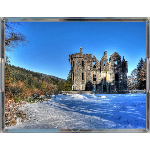 Castle in Snow South Acrylic Tray