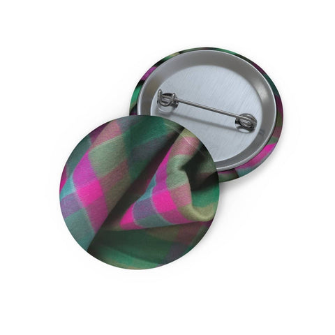 Tartan Pin Button