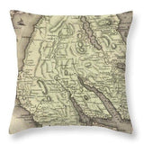 Antique Dounans Map - Throw Pillow