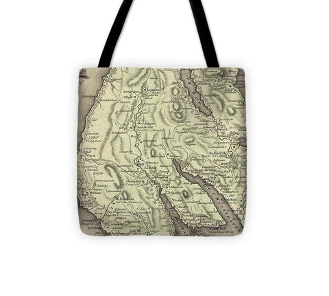 Antique Dounans Map - Tote Bag