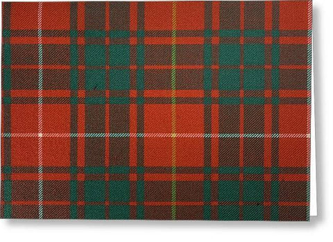 Bruce Ancient Tartan - Greeting Card