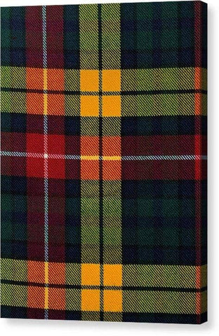 Buchanan Modern Tartan Swatch - Canvas Print