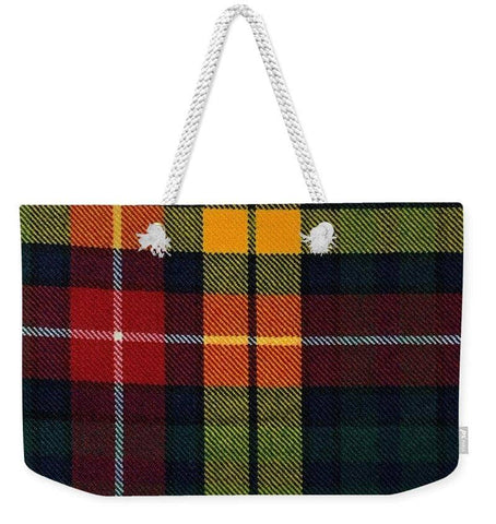 Buchanan Modern Tartan Swatch - Weekender Tote Bag