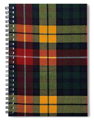Buchanan Modern Tartan Swatch - Spiral Notebook