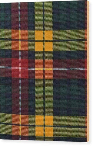 Buchanan Modern Tartan Swatch - Wood Print