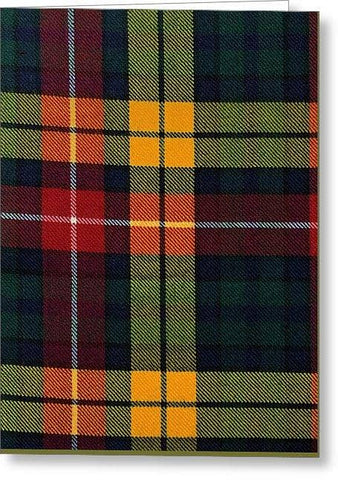 Buchanan Modern Tartan Swatch - Greeting Card