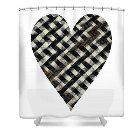 Burns Check Heart - Shower Curtain