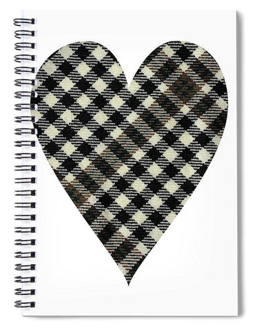 Burns Check Heart - Spiral Notebook
