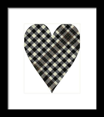 Burns Check Heart - Framed Print