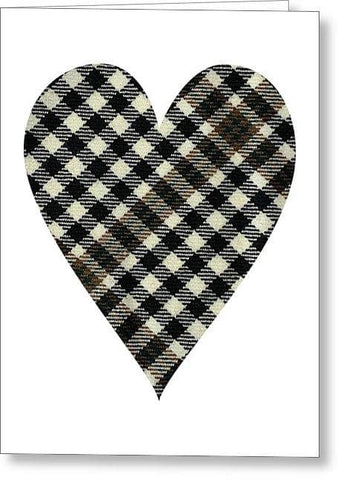 Burns Check Heart - Greeting Card
