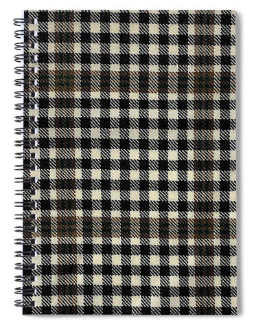 Burns Check Swatch - Spiral Notebook
