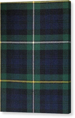 Campbell Of Argyle Modern Tartan Swatch - Canvas Print