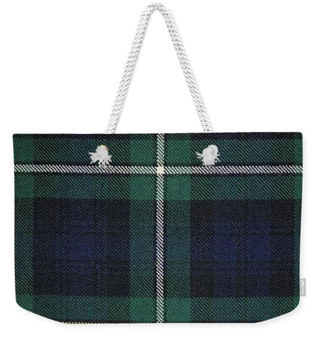 Campbell Of Argyle Modern Tartan Swatch - Weekender Tote Bag