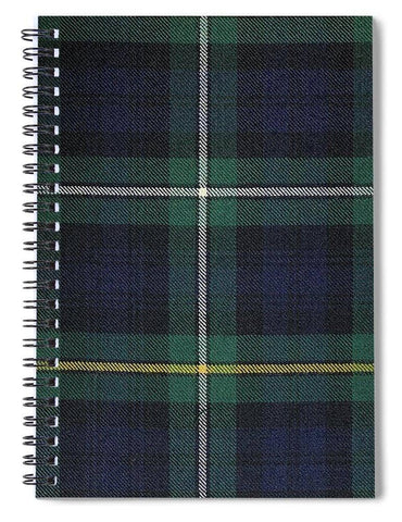 Campbell Of Argyle Modern Tartan Swatch - Spiral Notebook