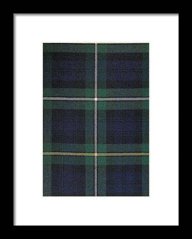 Campbell Of Argyle Modern Tartan Swatch - Framed Print