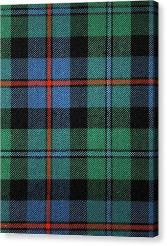 Campbell Of Cawdor Ancient Tartan Swatch - Canvas Print