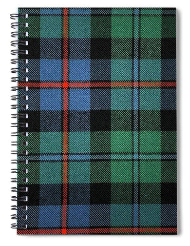 Campbell Of Cawdor Ancient Tartan Swatch - Spiral Notebook