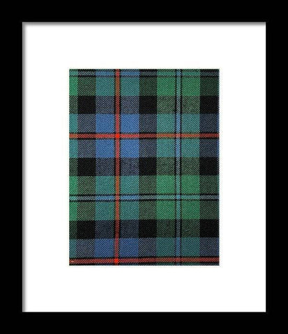 Campbell Of Cawdor Ancient Tartan Swatch - Framed Print