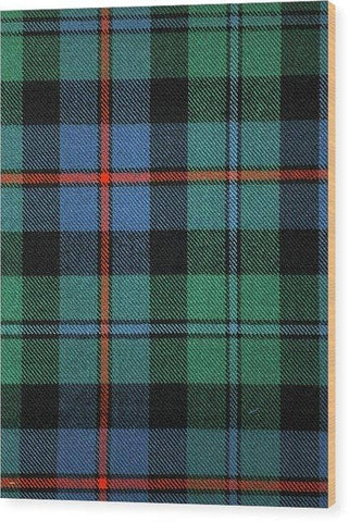 Campbell Of Cawdor Ancient Tartan Swatch - Wood Print