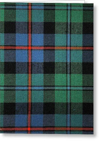 Campbell Of Cawdor Ancient Tartan Swatch - Greeting Card