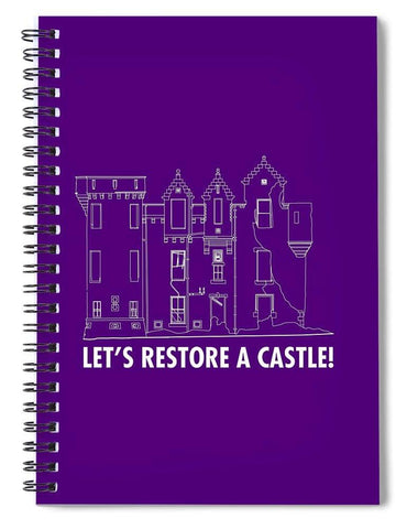 Castle Outline - Spiral Notebook